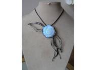 Ledový květ - bílo-modrá perleť